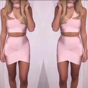 🌸Bandage Skirt & Choker Crop Top Set🌸